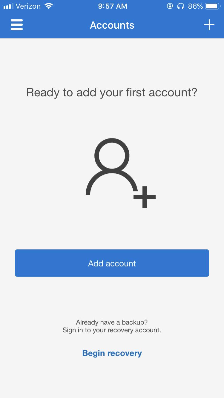 Adding an account