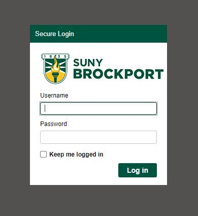 printing.brockport.edu log in screen