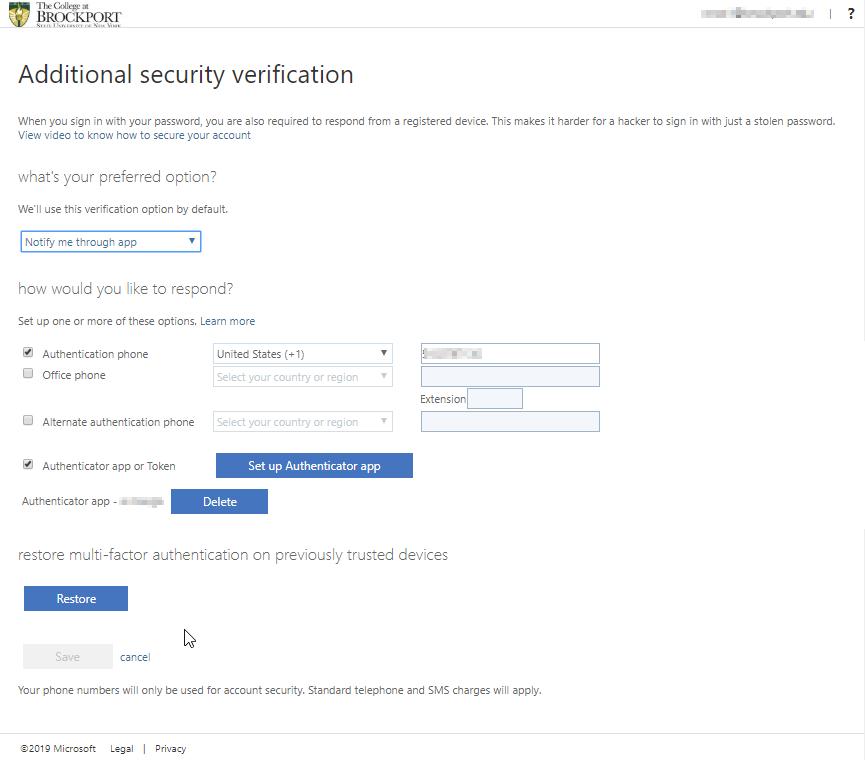 Security choice verification