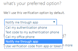 Option for verification